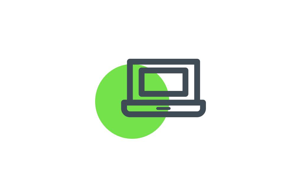 laptop verde
